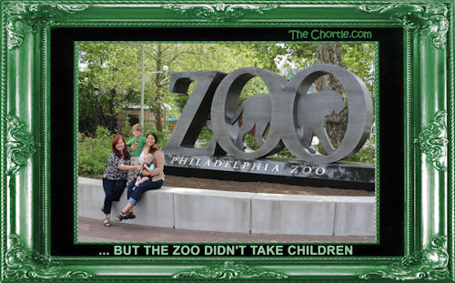 ... but the zoo didn't take children